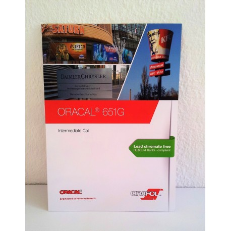 Farvekatalog - 651 Oracal blank skiltefolie